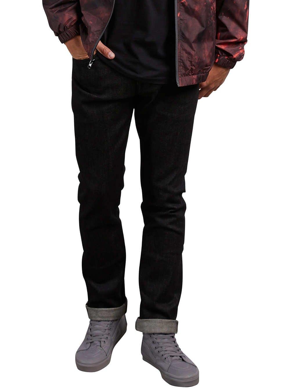 (ボルコム)VOLCOM スリム ストレッチ ストレート デニム (ローライズタイプ) 【 Vorta Denim 】 A1931501 B077P6YW3X 33W x 34L|Black Selvedge Black Selvedge 33W x 34L