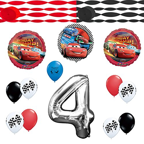 Disney Cars 4th Birthday Party Balloons Decoration Kit (Disney Cars Tow Mater Costume)