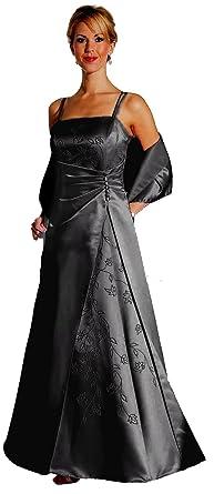 Abendkleid lang schwarz a linie