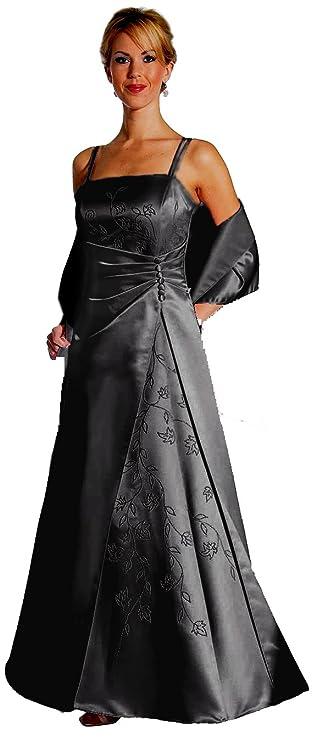 Ballkleid A-Linie Abendkleid Lang Festkleid Hochzeitsgast Schwarz Gr ...