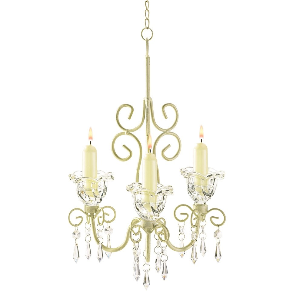 amazoncom gifts u0026 decor shabby elegance scrollwork chic decor home u0026 kitchen - Shabby Chic Chandelier
