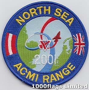 El Mar Del Norte ACMI gama 2001La Otan RAF Royal Air Force insignia bordado parche