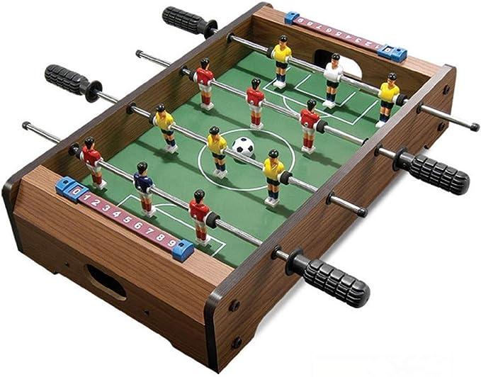 LMCLJJ Mesa de futbolín Sala de Juegos Interior Mesa de fútbol for ...