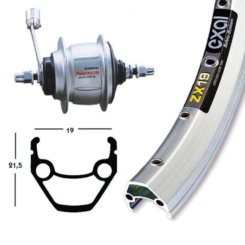 Bike-Parts 28´´ Hinterrad Exal ZX 19 + Nabenschaltung Shimano 8-Gang (RB)