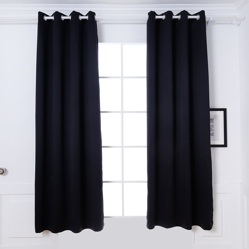 DREAM ART Portable Blackout Blinds Curtain with Suction Cups for Home or Travel Use (Black), 132cm X 183cm