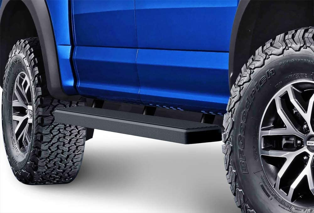 """For 15-19 Ford F150 SuperCrew Cab 5/"""" Black Side Step Running Boards Nerf Bars"""