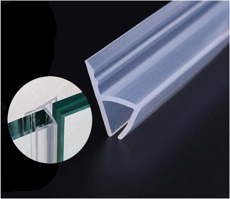 Tira para puerta de ducha de cristal, 305 cm, sin marco, sellado para ventanas de puerta, flexible, con silicona resistente a la intemperie para cristales de 0,95 cm: Amazon.es: Bricolaje y herramientas