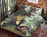 URBAN UNIQUE T Rex Single Quilt Duvet Cover Bed Set 1 P/case Dinosaur Bedding Dino Jurassic