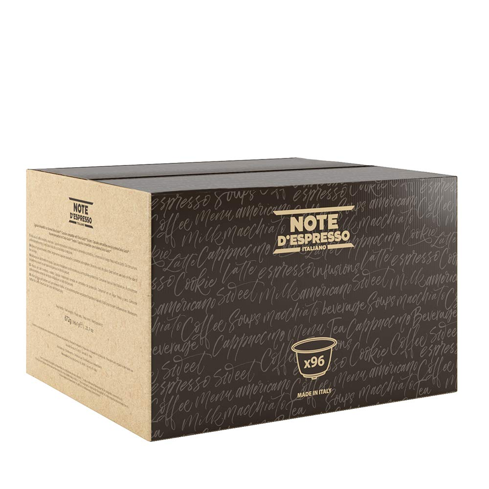 Note d'Espresso Arabica Coffee Capsules Exclusively Compatible with Nescafé* and Dolce Gusto* capsule machines 7g x 96 Capsules