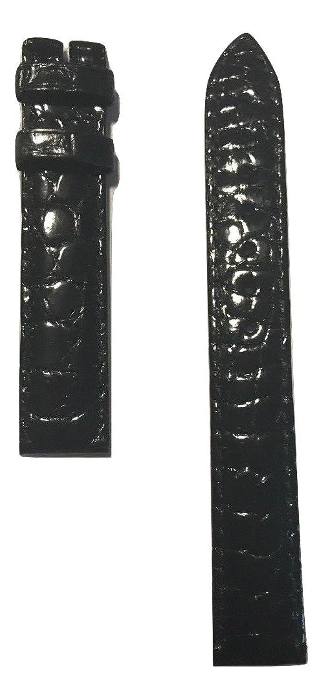 Movado MOVADOレディース赤ラベルのブラックアリゲーターレザーバンドストラップ時計モデル: 0607010または0607009  B071XJR1J4