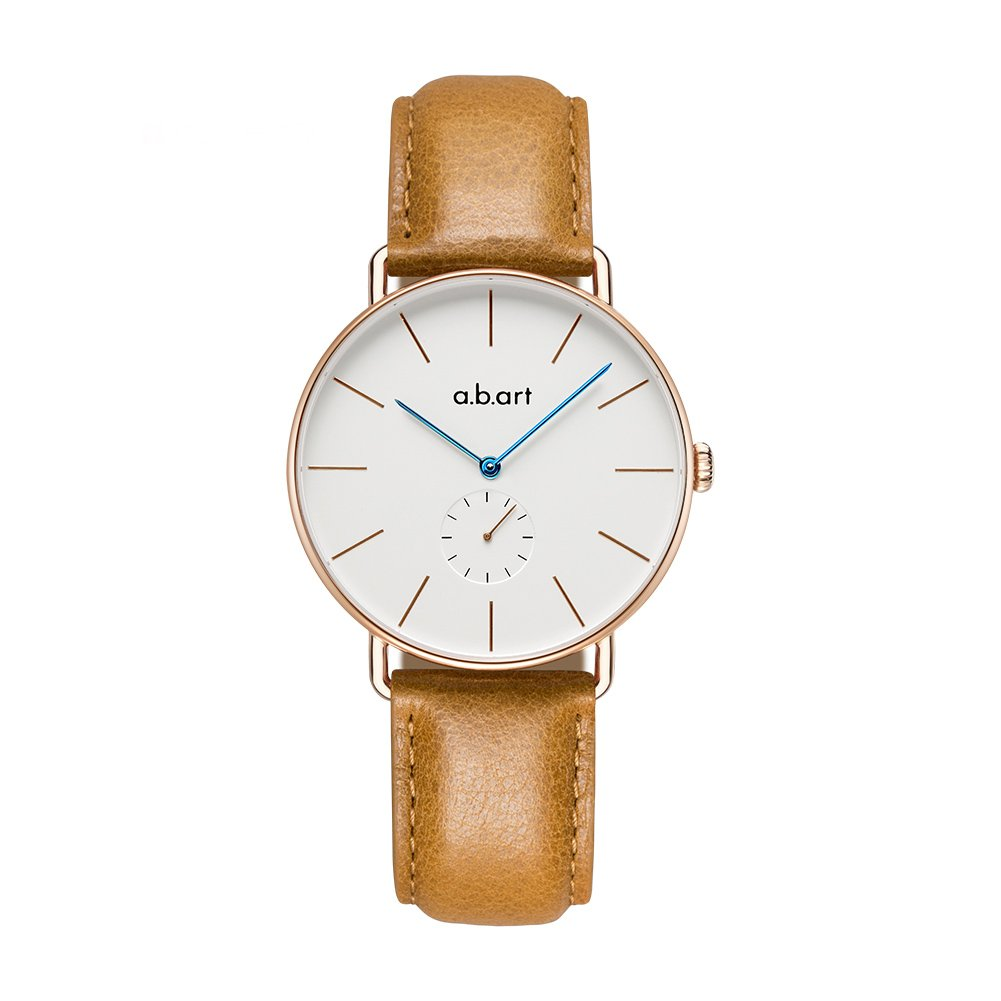 a.b.art FR36-001-3L Sapphire Crystal Glass Women Dress Watches Lido (Oily Cowhide) Strap Analog Watches for Women