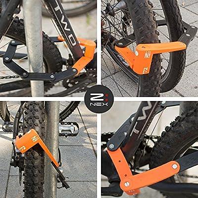 ZNEX 72 | Mini cerradura plegable / Cerradura de bicicleta / 72cm ...