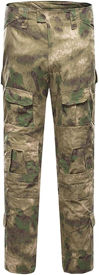 YuanDian Hombres Tactical Ranas Camuflaje Ropa Conjunto Militar Entrenamiento Aire Libre Manga Larga Camiseta Camuflaje Pantalones Montaña Aventura ...