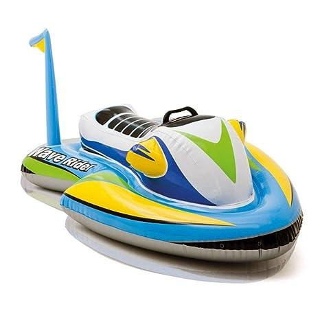 Amazon Com Fidgetfidget Boat Inflatable Speedboat Pool Float Ride