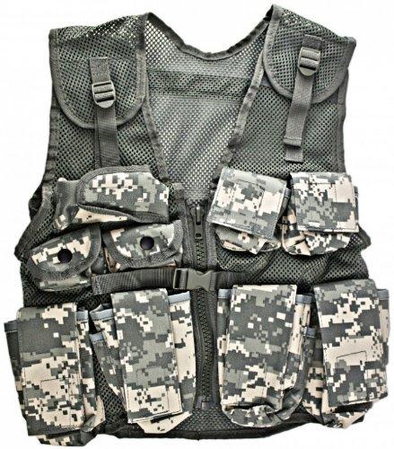 Kids-Army ACU Helmet and Kids ACU Combat Vest Combo - stylishcombatboots.com