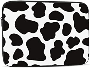 Cow Print Laptop Sleeve Bag Compatible with iPad, MacBook Pro, MacBook Air, Notebook Computer, Water Repellent Polyester Protective Case Cover 17 inch