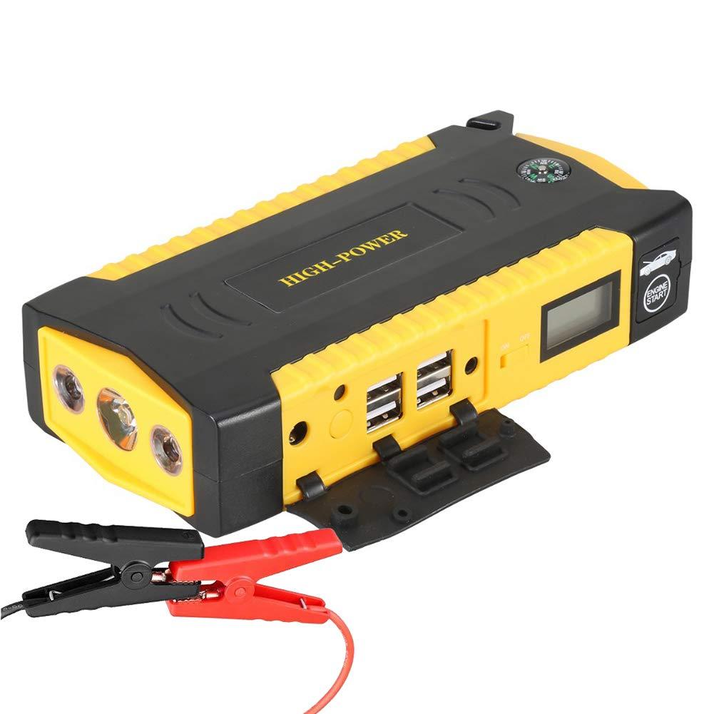 OOLIFENG 18000Mah 600A Banque D'alimentation USB, Peak Jump Starter Pack Avec Lampe De Poche LED Pour 12V Voiture Et Bateau