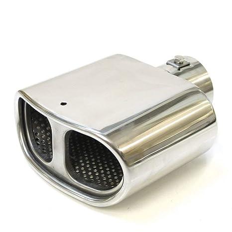 Autohobby 0250 - Embellecedor de tubo de escape, silenciador universal, de acero inoxidable hasta