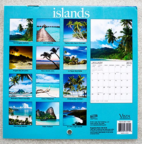 Vista Art Wolfe Islands 2015 16-Month Mini Desk Calendar + 2 Year Planner (SET OF 2)