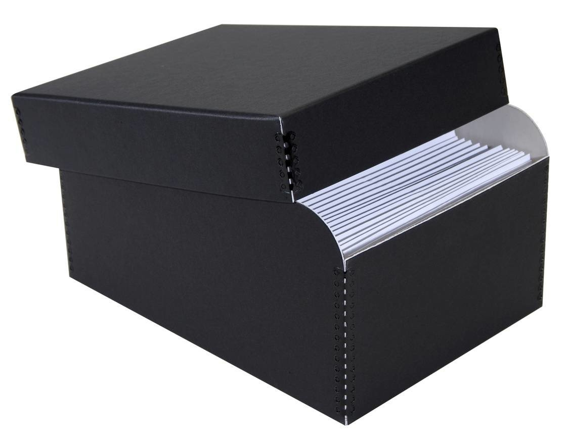 Lineco Photo Storage Box, Holds 1000 3'' x 5'' or 4x6'' or 5x7'' Photos, Removable Lid with Photo Envelopes, Color: Black.