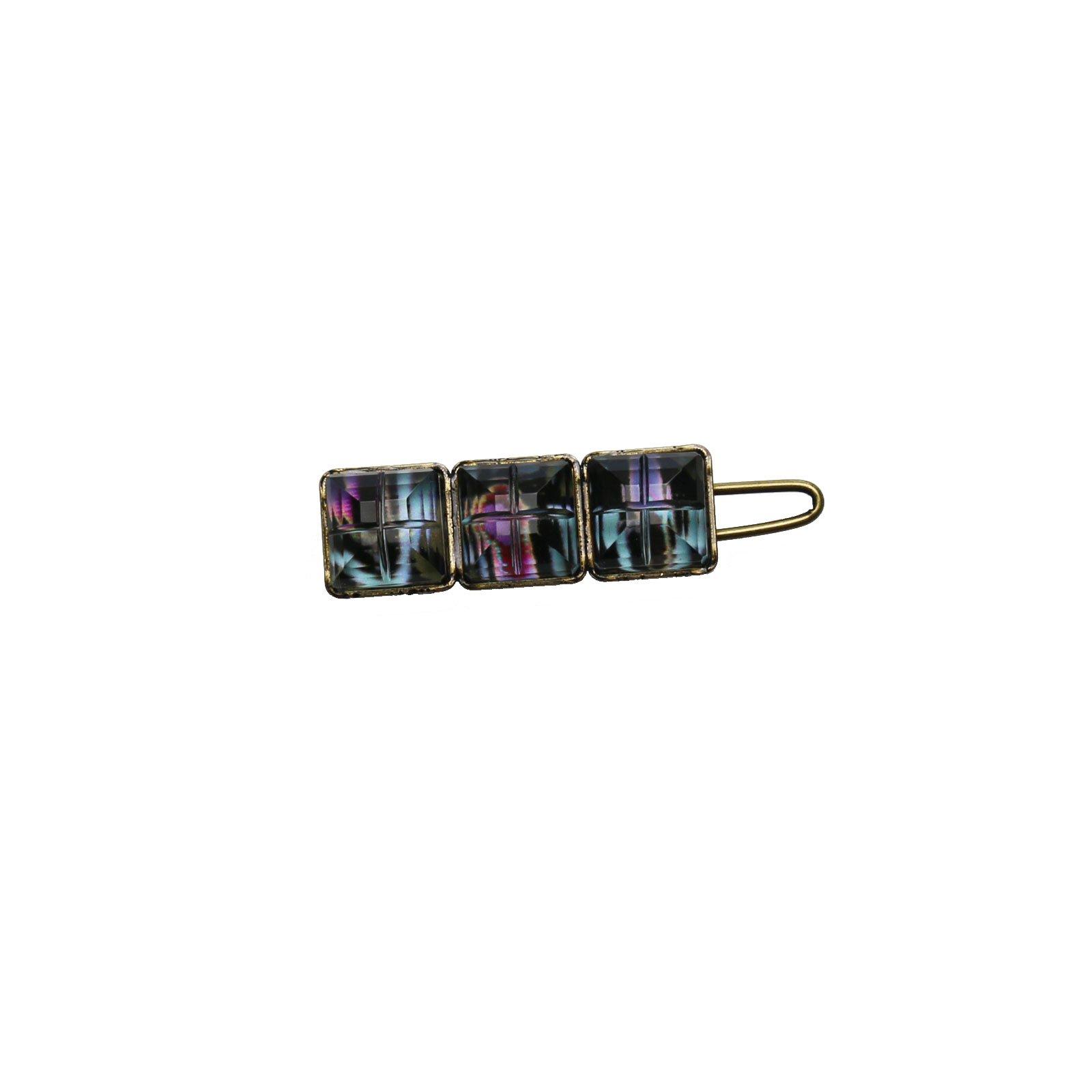 Tamarusan Hair Clip Black Hairpin Hair Ornament Handmade