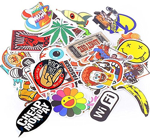 Xpassion Car Stickers Motorcycle Bicycle Luggage Laptop Decal Graffiti Patches Skateboard Bumper Stickers 100 - Pack Decal