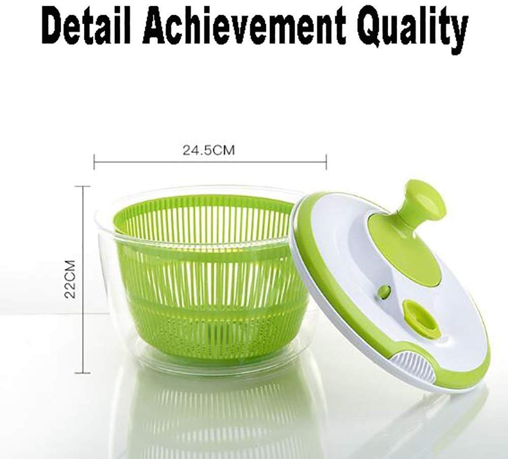 Aich Vegetable Dryer Salad Spinner Dehydrator Household Salad Sink Manual Salad Spinner Creative Kitchen Fruit Water Drain Basket by Aich