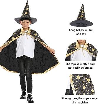 Wand Childs Wizard Costume Boys Girls Witch Fancy Dress Kids Book Week Hat Tie