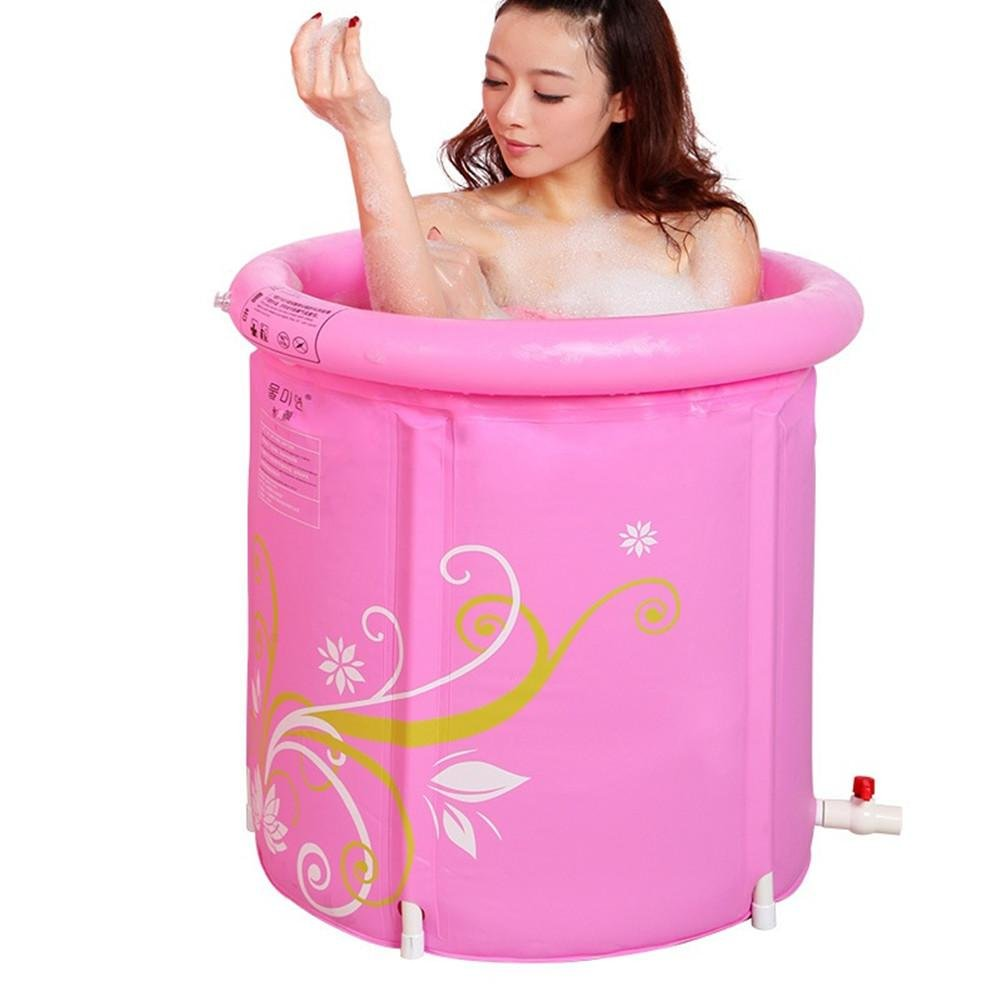 FACAI888 Adulti Folding gonfiabile in PVC Vasca ispessito pieghevole in plastica doccia a secchio , small aike