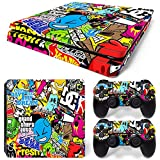 MODFREAKZ™ Console and Controller Vinyl Skin Set - Game Sticker Bomb for PS4 Slim