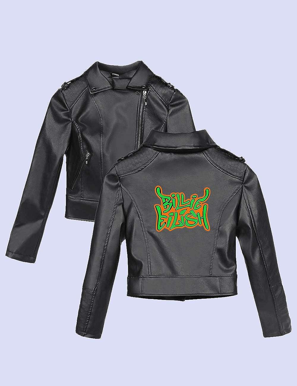 Billie Eilish Jacke Damen Teenager M/ädchen Mode Neon Gr/ün 3D Druck Lederjacke Frauen Coole Leder Jacket Pullover Hip Hop Bad Guy Winterjacke J/äckchen Sweatshirt Mantel Outwear Pulli
