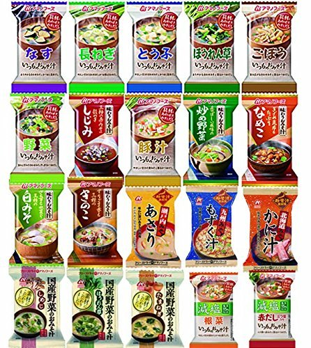Amano foods freeze-dried miso soup Deluxe 20items 40pcs food sets by Amano foods