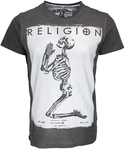 Religion Praying Skeleton T-Shirt - M: Amazon.co.uk: Clothing