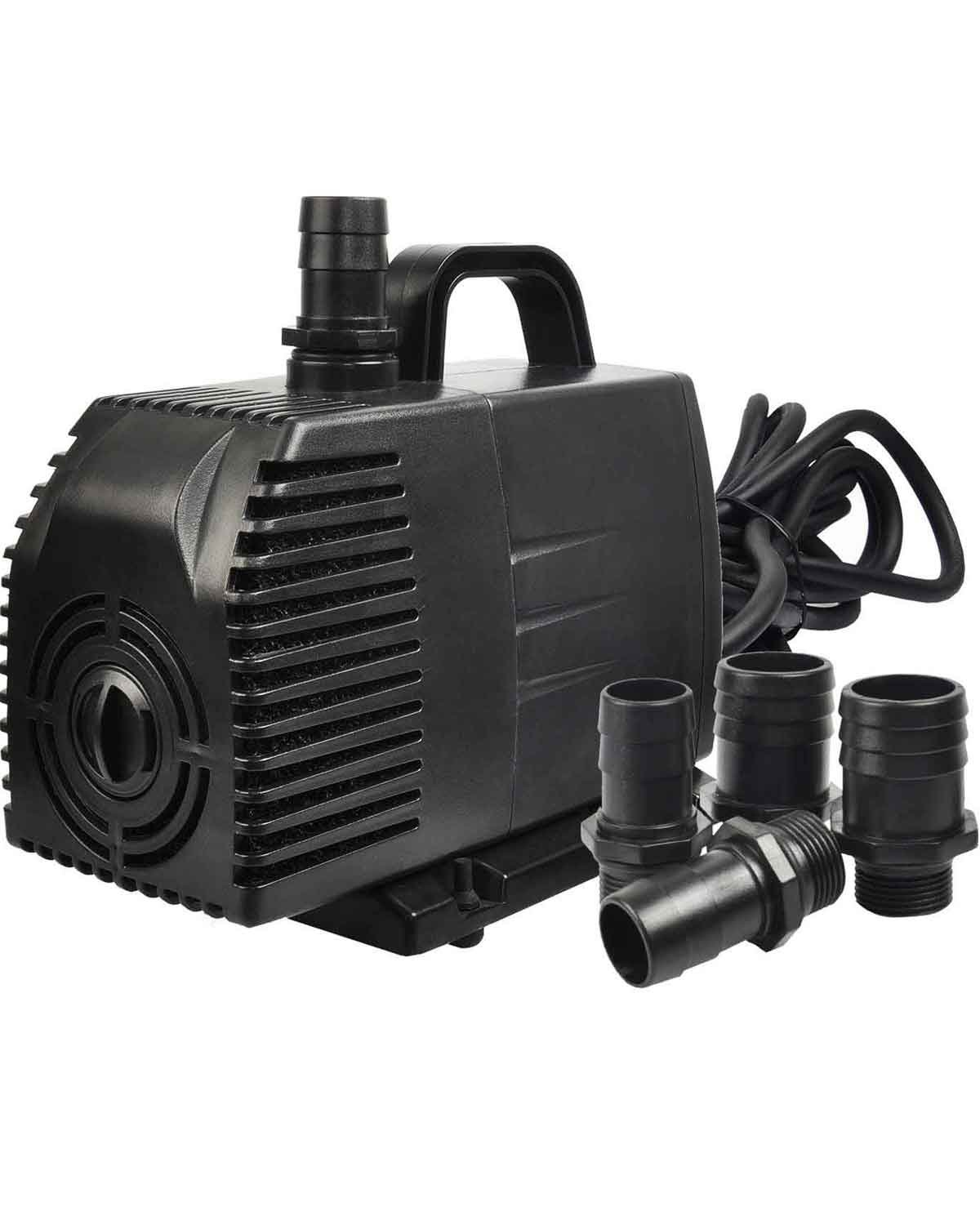 Simple Deluxe 1056 GPH Submersible Pump with 15' Cord, Water Pump for Fish Tank, Hydroponics, Aquaponics, Fountains, Ponds, Statuary, Aquariums & Inline by Simple Deluxe