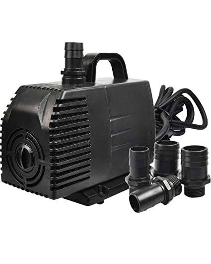 Simple Deluxe 1056 GPH Submersible Pump with 15' Cord, Water Pump for Fish  Tank, Hydroponics, Aquaponics, Fountains, Ponds, Statuary, Aquariums &