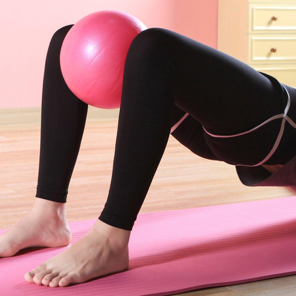LIOOBO Esercizio Palla Mini Pilates Palla Palla Core Allenamento e Fisioterapia migliora lequilibrio Rosa 15 cm