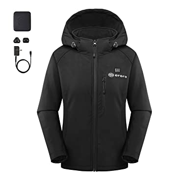 3d51ddd13dae ororo Women s Slim Fit Heated Jacket with Battery Pack and Detachable Hood  ...