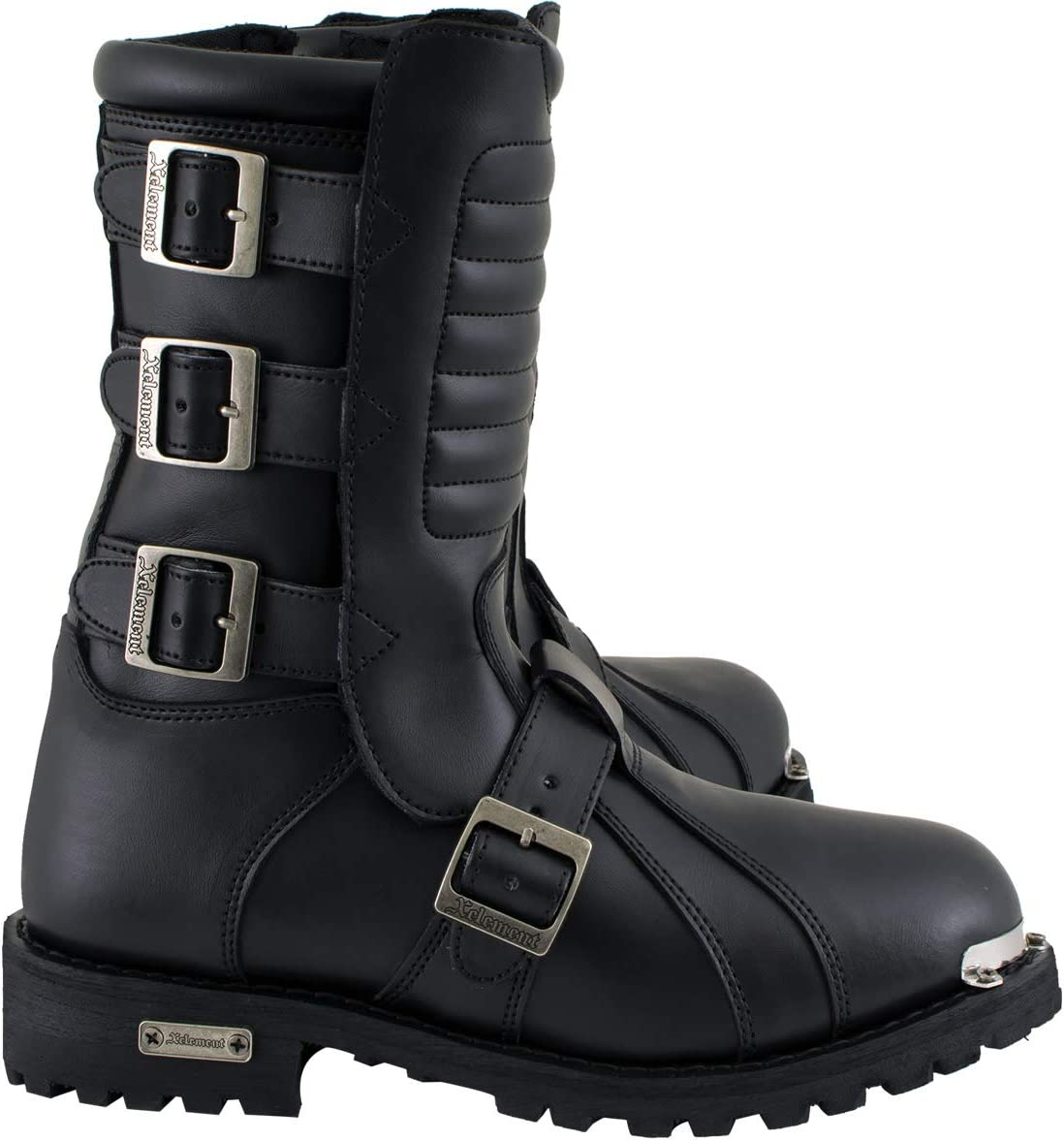 13 Xelement 1503 Executioner Mens Black Leather Motorcycle Boots