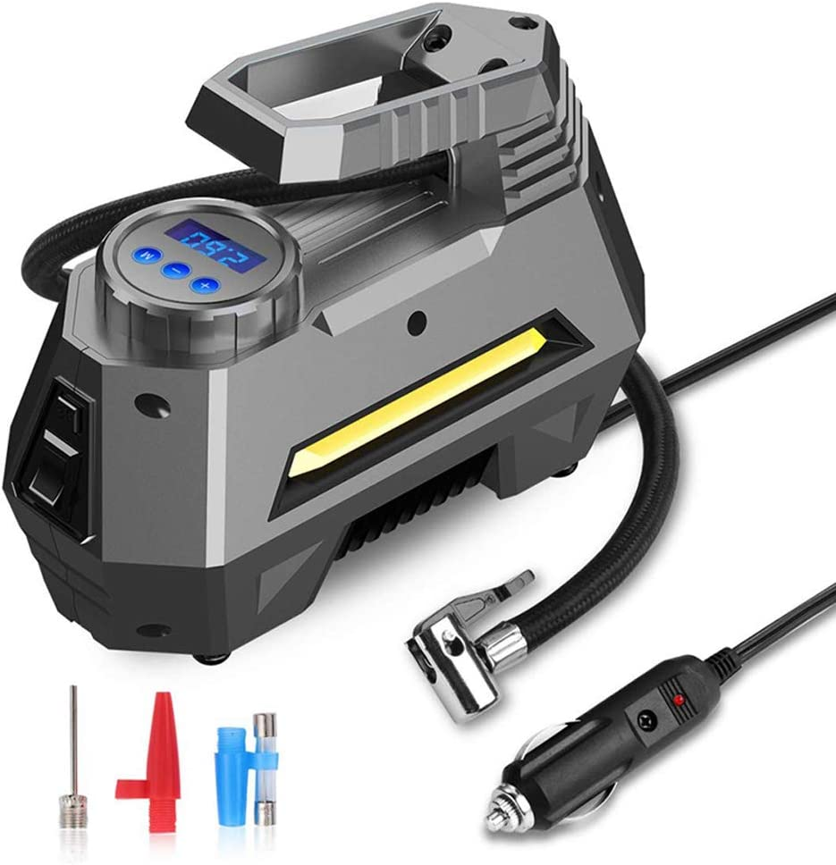 DC 12V Digital Tire Pressure Inflator 150 PSI Emergency Tire Pump for Car Motor
