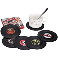 Mastery Portavasos Antideslizantes de Vinilo para Mesa 6 Pack; Posavasos con Diseño Único y Moderno de CD para Café, Té…