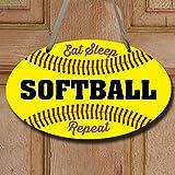 ChalkTalk-SPORTS-Softball-Oval-Room-Sign-Eat-Sleep-Softball-Repeat