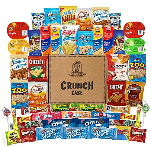 Mega Snacks (50 Count) Variety Care Package Gift