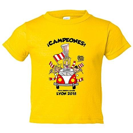 Camiseta niño Atlético de Madrid volvemos de Lyon campeones 2018 Europa League - Amarillo, 3