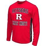 Mens NCAA Rutgers Scarlet Knights Long Sleeve Performance Tee Shirt (Team Color)