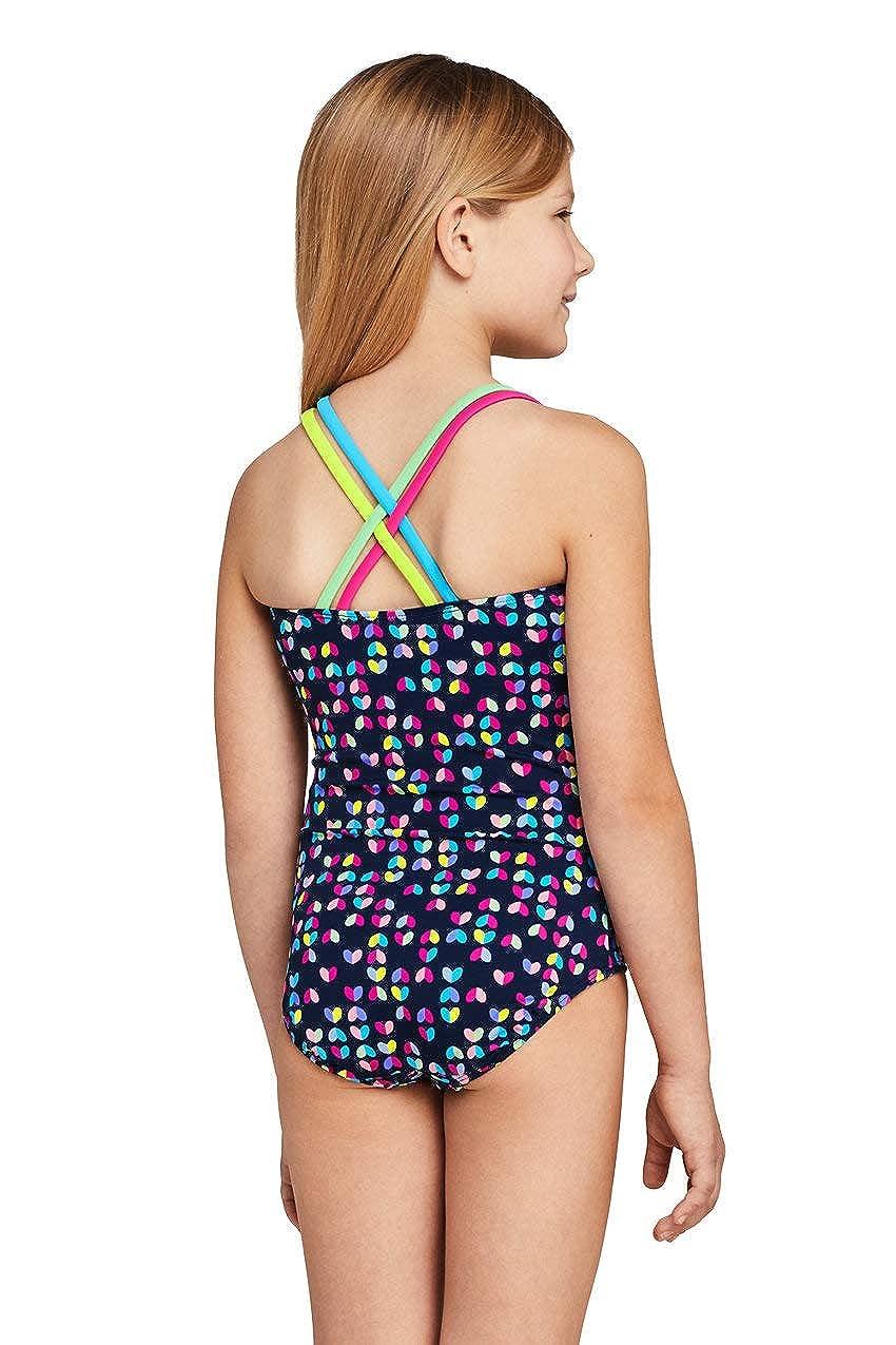 Lands End Girls Cross Back One Piece Swimsuit