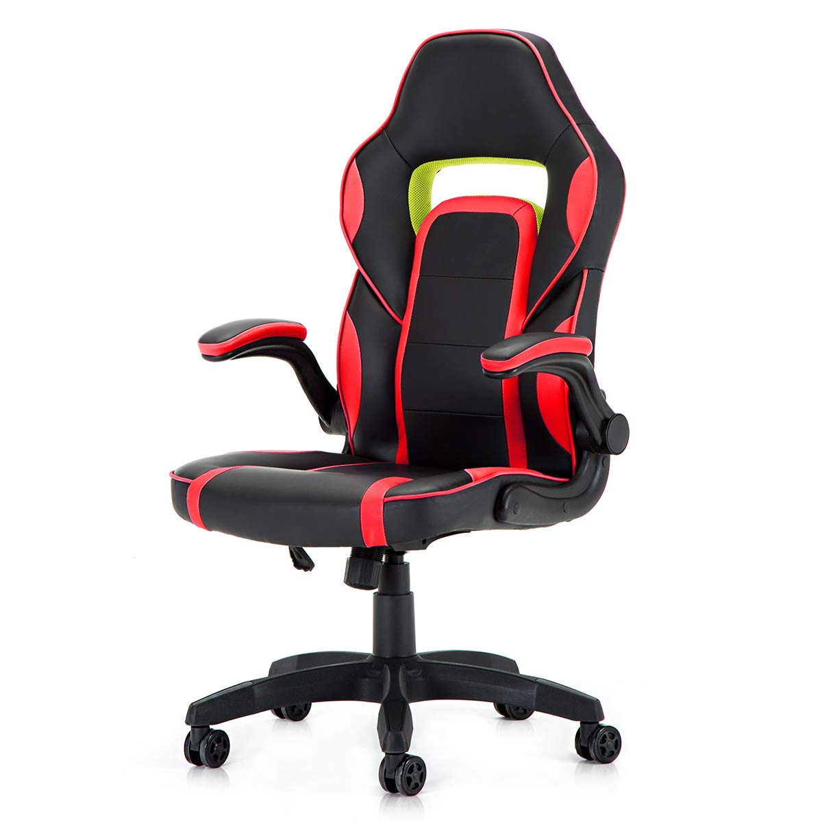 Red Racing Style PU Leather Gaming Chair - Ergonomic Swivel Computer, Office or Gaming Chair Desk Chair HOT (WH0)