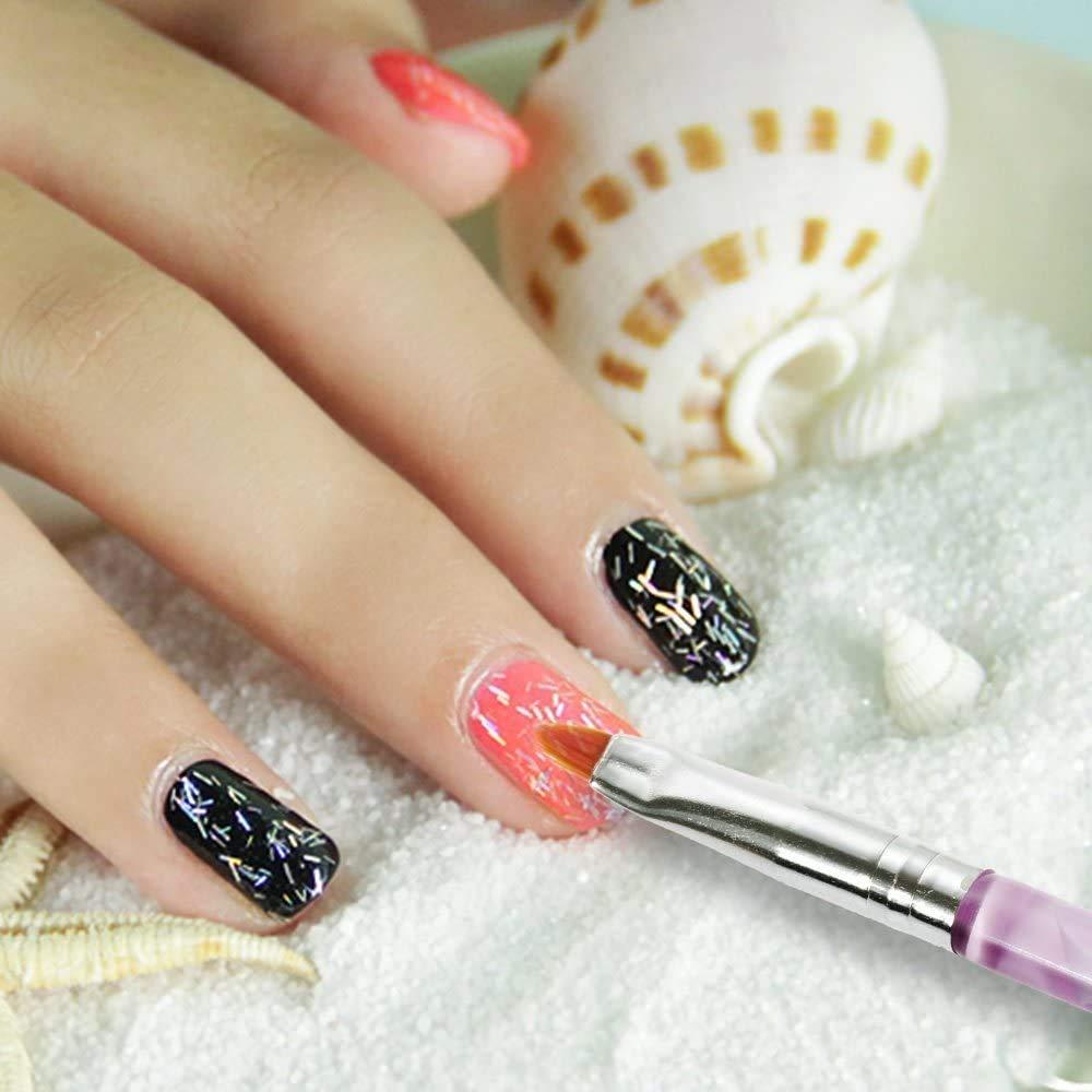 7 PCS UV Gel Nail Brush, Acrylic Nail Brush Set, Nail Art Tips Builder Acrylic Brush Nail Brush Acrylic : Beauty
