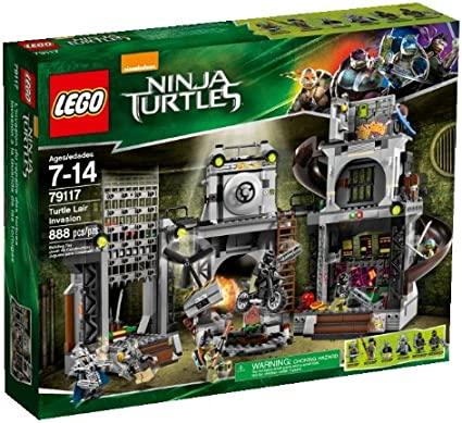 LEGO Ninja Turtles 79117 Turtle Lair Invasion Building Set