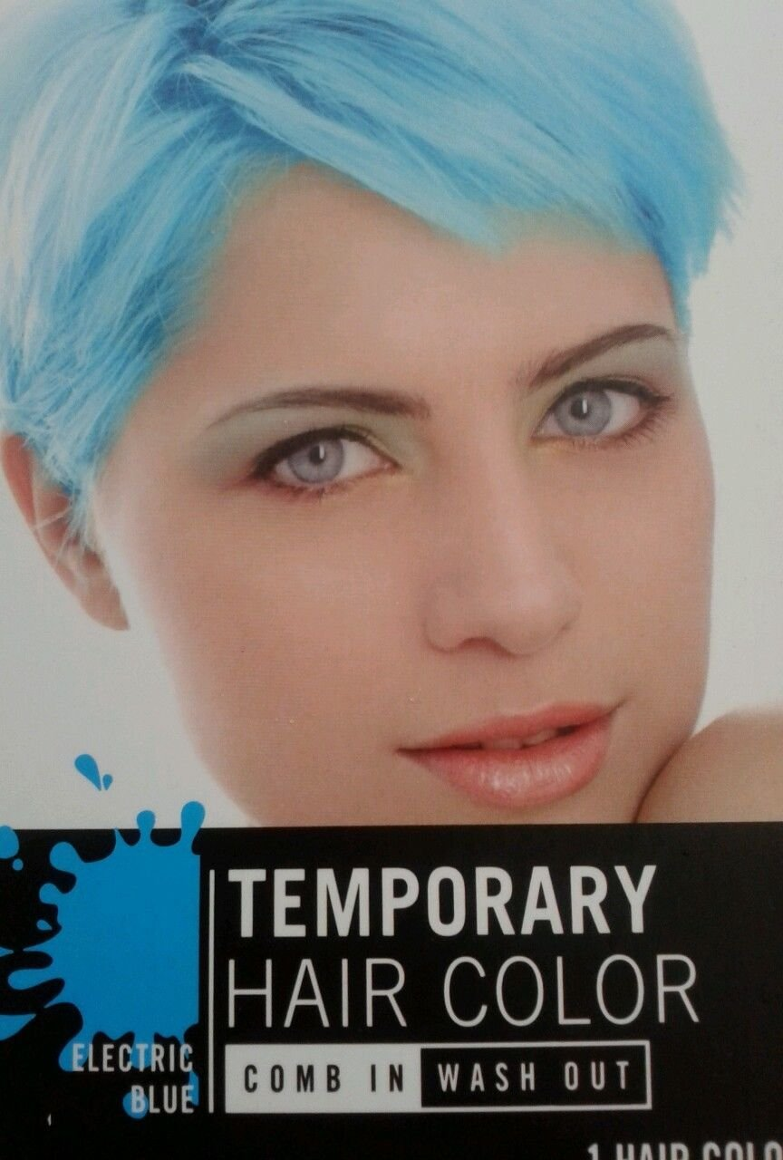 Amazon Temporary Hair Color Electric Blue Comb In Wash