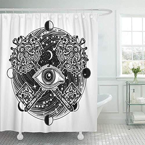 Cortina de ducha Impermeable Todo lo que ve Tatuaje del ojo Oculto ...